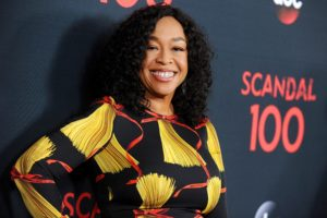 """WEST HOLLYWOOD, CA - APRIL 08:  Producer Shonda Rhimes attends ABC's """"Scandal"""" 100th episode celebration at Fig & Olive on April 8, 2017 in West Hollywood, California.  (Photo by Jason LaVeris/FilmMagic)"""