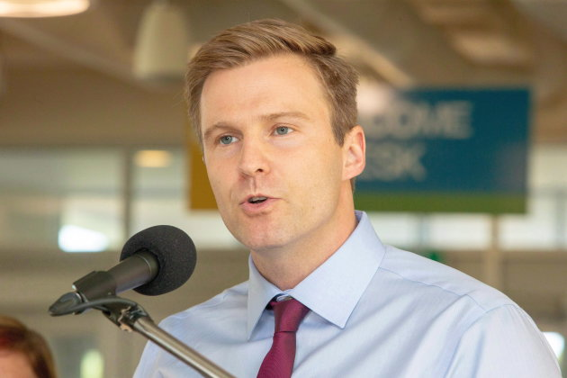 New Brunswick Liberal Leader Brian Gallant speaks at a campaign stop in Fredericton on Wednesday, Sept. 5, 2018. THE CANADIAN PRESS/James West
