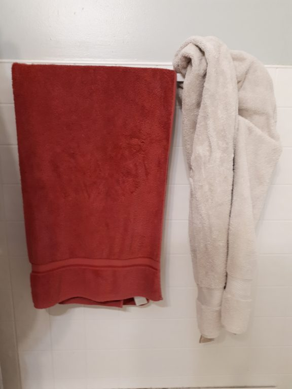 Can you tell which is my towel and which is my wifes?